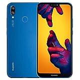 "Huawei P20 Lite Dual Sim 32GB ANE-LX3 Pantalla 5.84"" Camara 16Mpx 4GB RAM Libre de Fabrica Version Internacional, Azul"