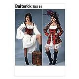 Butterick B6114 Women's Pirate Costume Sewing Pattern, Sizes 14-22