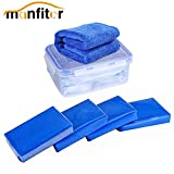 Manfiter Car Clay Bar Detailing Clay, 4 Pack X 100g Magic Clay Bar with Washing and Adsorption Capacity for Cleaning Oxidation, Scale, Bird Feces, Iron Powder, Acid Rain, and Sap, with Cleaning