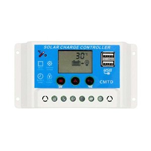 Sun YOBA 10A 20A 12V/24V Solar Controller Solar Panel Charge Controller with USB Port