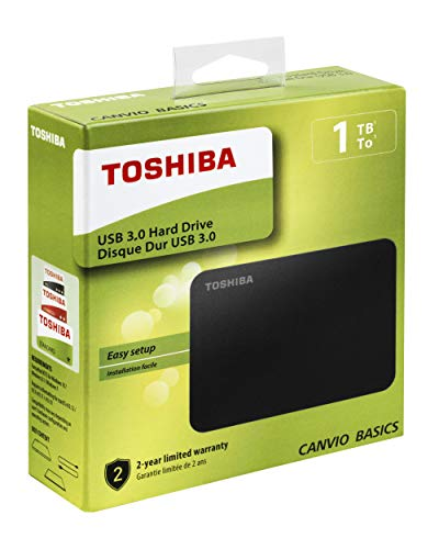 41 WMElMO6L - Toshiba Canvio Basics 1TB Portable External Hard Drive USB 3.0 for PC, Xbox, PS4. HDTB410EK3AA