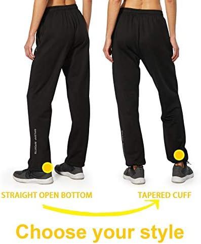 BALEAF Women's Running Thermal Fleece Pants Zipper Pocket Athletic Joggers Sweatpants Adjustable Ankle Winter Track Pants 4
