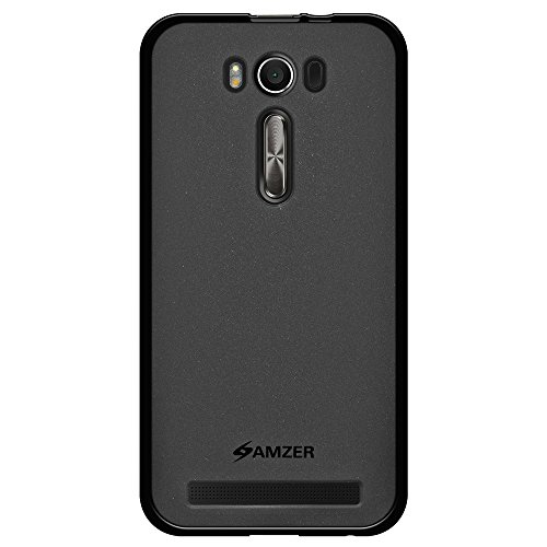 AMZER Pudding TPU Soft Gel Skin Case for Asus Zenfone 2 Laser ZE500KL (5.0 Inch), Asus Zenfone 2 Laser ZE500KG - Retail Packaging - Black
