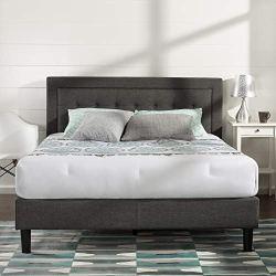 Zinus Dachelle Upholstered Platform Bed Frame / Mattress Foundation / Wood Slat Support / No Box Spring Needed / Easy…