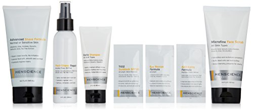 41 YQmJr5TL Includes the following MenScience products: Microfine Face Scrub 4.4oz, Advanced Shave Formula 5.6oz and Post-Shave Repair 4oz. An $88 value! Face scrub prepares for shaving. Deep cleansing Shaving cream leaves face soft and smooth. Helps combat ingrown hairs