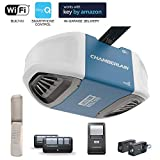 Chamberlain Group B550 Smartphone-Controlled Ultra-Quiet & Strong Belt Drive Garage Door Opener with MED Lifting Power, Blue