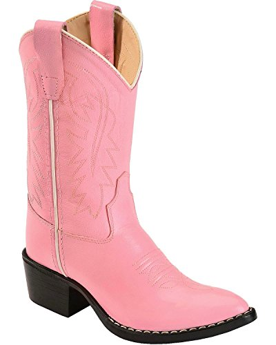 Old West Girls' Cowgirl Boot Pink 1 D(M) US