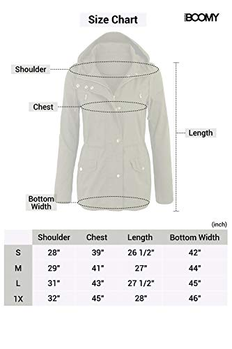 FASHION BOOMY Womens Zip Up Safari Military Anorak Jacket W/Hood 4 Fashion Online Shop gifts for her gifts for him womens full figure