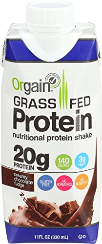 Orgain Grass Fed Protein Shake, Creamy Chocolate Fudge, 11 Ounce, 12 Count