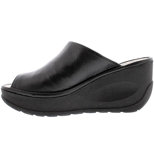 41 cib6v31L Breathable leather upper Cushioned insole Open toe step in slide