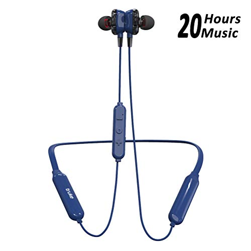 truke Yoga Power in-Ear Neckband Wireless Bluetooth Earphones with Mic (Blue) 61