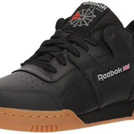 Reebok Men's Workout Plus Cross Trainer, Black/Carbon/Classic red, 9 M US