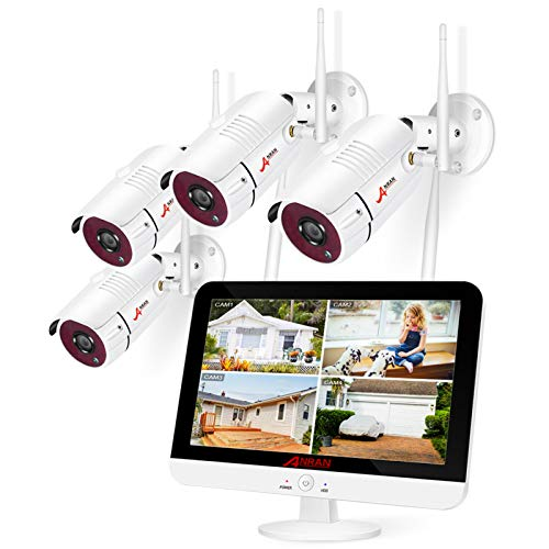 8CH-Expandable-ANRAN-All-in-one-Wireless-Security-Camera-System-with-13-LCD-Monitor-8CH-1080P-WiFi-NVR-Kits-Pre-Install-1TB-Hard-Drive-and-4pcs-Outdoor-Cameras-with-Night-VisionMotion-Detection