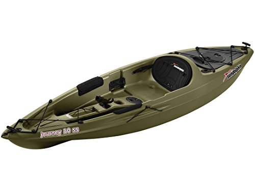 SUNDOLPHIN Sun Dolphin Journey Sit-on-top Fishing Kayak (Olive, 10-Feet)