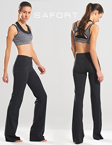 Hip hugger flap pockets boot cut yoga pants
