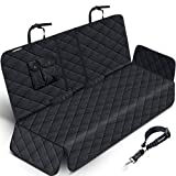 URPOWER Dog Seat Covers 100% Waterproof Pet Car Seat Cover Nonslip Bench Seat Covers Armrest Compatible for Back Seat with Pet Seat Belts for Cars Trucks & SUVs