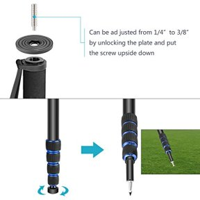 Neewer-Extendable-Camera-Monopod-with-Removable-Foldable-Tripod-Support-BaseAluminum-Alloy20-66-inches52-168-Centimeters-for-Canon-Nikon-Sony-DSLR-CamerasPayload-up-to-11-pounds5-kilograms