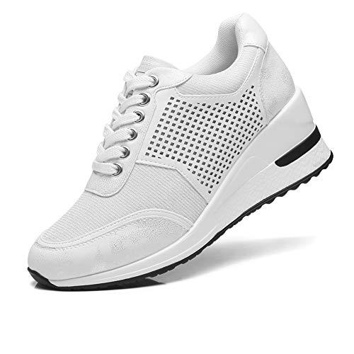 Sneakers con Zeppa Stringate Donna Tacco Alto per - Scarpe da Ginnastica  con Zeppa Donna, la Scelta Migliore per l'uso…