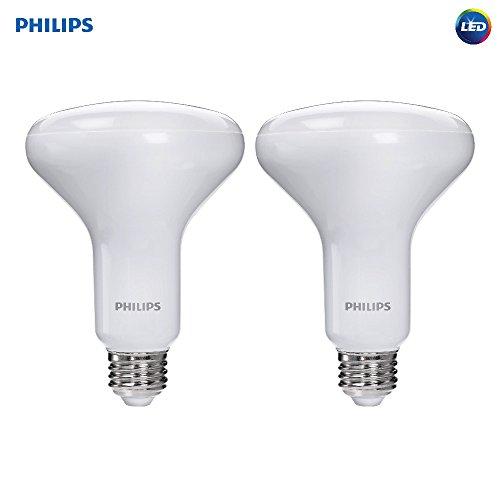 Philips LED Dimmable BR30 Soft White Light Bulb with Warm Glow Effect 650-Lumen, 2700-2200-Kelvin, 9-Watt (65-Watt Equivalent), E26 Base, Frosted, 2-Pack