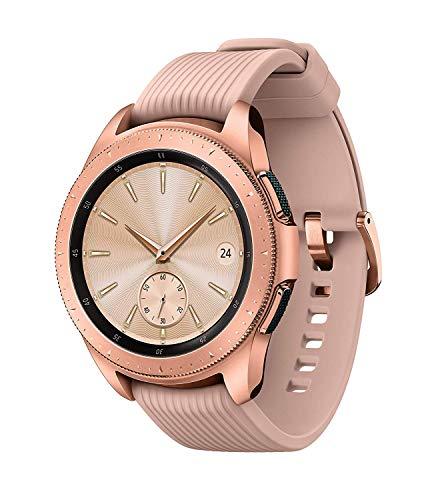 Samsung - Galaxy Watch Smartwatch 42mm Stainless Steel LTE SM-R815UZDAXAR GSM Unlocked - Rose Gold (Renewed)