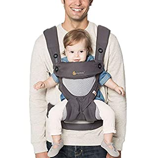 Ergobaby's Award-Winning 360 Baby Carrier All Carry Positions with Cool Air Mesh offers every carry positions in a cool and breathable fabric to get out and about with baby, from summer hikes to leisurely strolls.MAXIMUM COMFORT FOR BABY- With its...