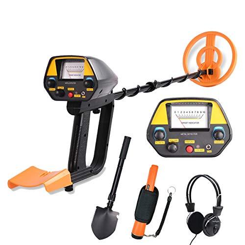 MOIMK-Detector-porttil-de-Metal-se-Establece-para-Adultos-Bobina-de-bsqueda-Impermeable-Pinpointer-Oro-escner-con-Auriculares-y-Pala-GP-Puntero