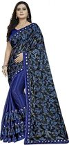 Market Magic Wolrd Women's Printed Lycra Silk Blend Saree With Blouse Pices