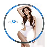 NEOWEEK Hula Hoop for Adults,Weighted Hula Hoop for Exercise-2lb,8 Section Detachable Design-Professional Soft Fitness Hula Hoop (Blue)