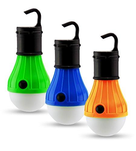 Paquete de 3 Piezas Lámparas para Exterior para Tiendas de Acampar Y Campismo |Bulbos de Exterior...