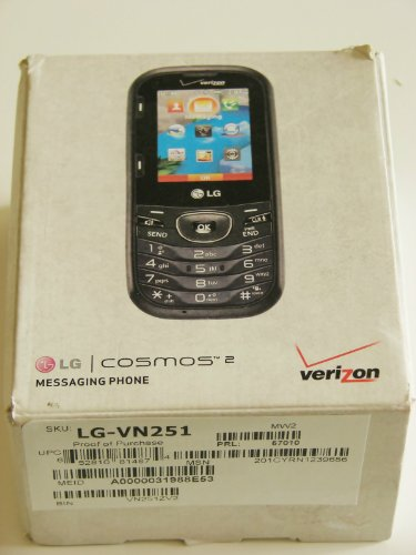 LG Cosmos 2 VN251 Verizon Wireless CDMA Slider Cell Phone w/ Number Pad + Full Keyboard (No Contract)