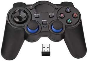 USB Wireless Gaming Controller Gamepad for PC/Laptop Computer(Windows XP/7/8/10) & PS3 & Android & Steam – [Black] (Black)