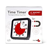 Time Timer Original 8 inch Magnet; 60 Minute Visual Timer - Classroom or Meeting Countdown Clock for Kids and Adults (Black)