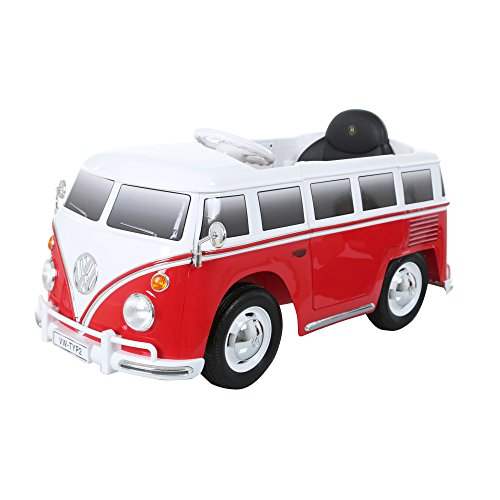 Rollplay 6 Volt VW Bus Ride On Toy, Battery-Powered Kid's Ride On Car