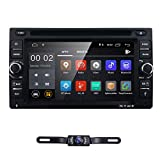 6.2' inch Android 8.1 Double Din in Dash Radio Car Video Receiver DVD Player Bluetooth WiFi 4G GPS Navigation System Rear Camera