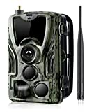 4G LTE Cellular Trail Game Camera Wireless,16MP 1080P Wildlife Hunting Camera (AT&T/Verizon Support), Micro SD Card and Card Reader Included, Suntekcam Night Vision IP65 Waterproof Cam,0.3s Scouting