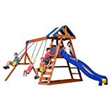 Backyard Discovery Dayton All Cedar Wood Playset Swing Set