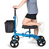 OasisSpace Steerable Knee Walker | Economy Knee Scooter for Foot Injuries Ankles Surgery (Blue)