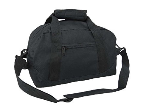 DALIX 14' Small Duffle Bag Two Toned Gym Travel Bag (Black)