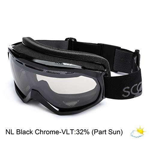 Scott US OTG Notice Ski Goggles, Black, Black Chrome Natural Lens