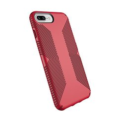 Speck Products Presidio Grip Cell Phone Case For IPhone 8/7/6S/6 Plus - MARS RED/VELVET RED