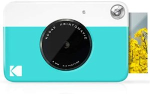 KODAK Printomatic Digital Instant Print Camera – Full Color Prints On ZINK 2×3″ Sticky-Backed Photo Paper (Blue) Print Memories Instantly