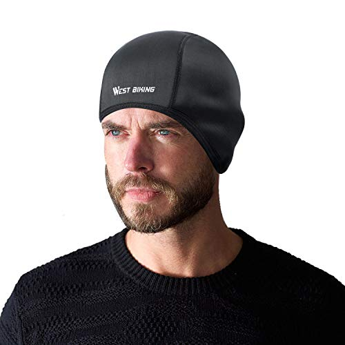 Helmet Liner Skull Cap Beanie with Ear Covers, Windproof, Moisture Wicking.