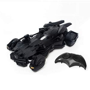 Kikioo Justice League Toy Rechargeable Remote Control Grand Sport Vitesse Car 1:18 Batmobile 2.4G Electric RC Radio Controlled Racing Race Stunt Vehicle 3 Years Old Children's Birthday Present Black 410H8BWUjwL