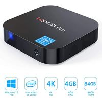 GUZILA Fanless Mini PC,Windows 10 Pro with Intel Atom Z8350 Processor,4GB DDR3,64GB eMMC,4K HD,Bluetooth 4.2,Dual Band…