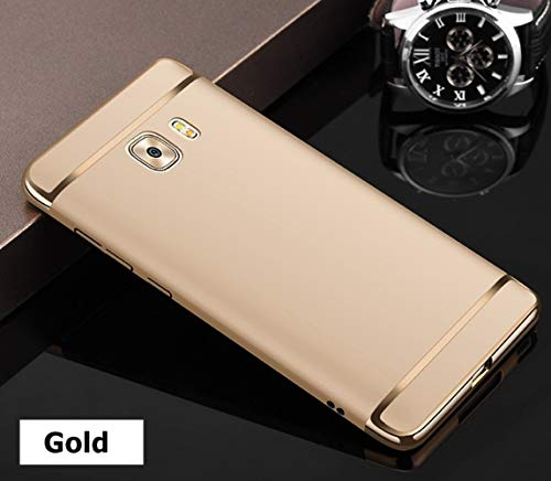 Explocart Electroplated Luxury 3-in-1 Slim Fit 360 Protection Hybrid Hard Bumper Back Case Cover for Samsung Galaxy C9 Pro - Gold 3