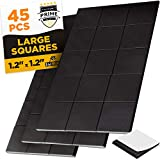 Large Magnetic Squares - 45 Self Adhesive Magnetic Squares (Each 1.2' x 1.2') - Peel & Stick Magnetic Sheets - Flexible Sticky Magnets - Tape is Alternative to Magnetic Stickers, Strip and Roll