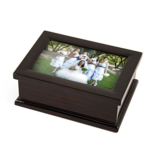 Sophisticated Modern 4 X 6 Photo Frame Musical Jewelry Box - Take Me Home Country Roads (John Denver)