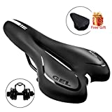 SGODDE Comfortable Bike Seat, Gel Bicycle Saddle Padded Professional Waterproof Road Bike Saddle for Men,Women,Universal Riding Bike, Mountain Bike