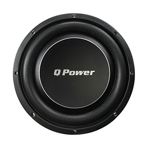 Q Power Deluxe 10 Inch Shallow Mount 1000 Watt Flat Car Subwoofer   QPF10-FLAT