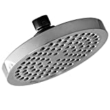 "Shower Head - LIMITED TIME SALE - Rainfall High Pressure 6"" - Rain High Flow Fixed Luxury Chrome Showerhead - Removable Water Restrictor - For the Best Relaxation and Spa"